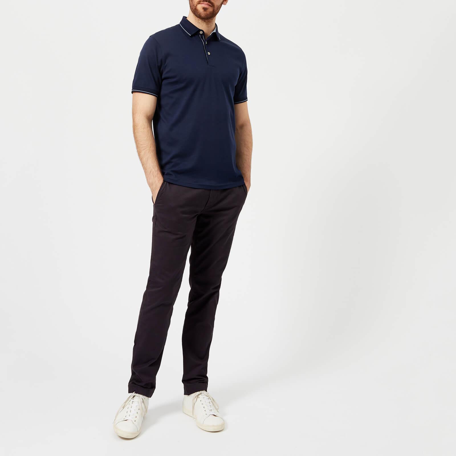 Ted Baker Cotton Pug Stripe Detail Polo Shirt in Navy (Blue) for Men