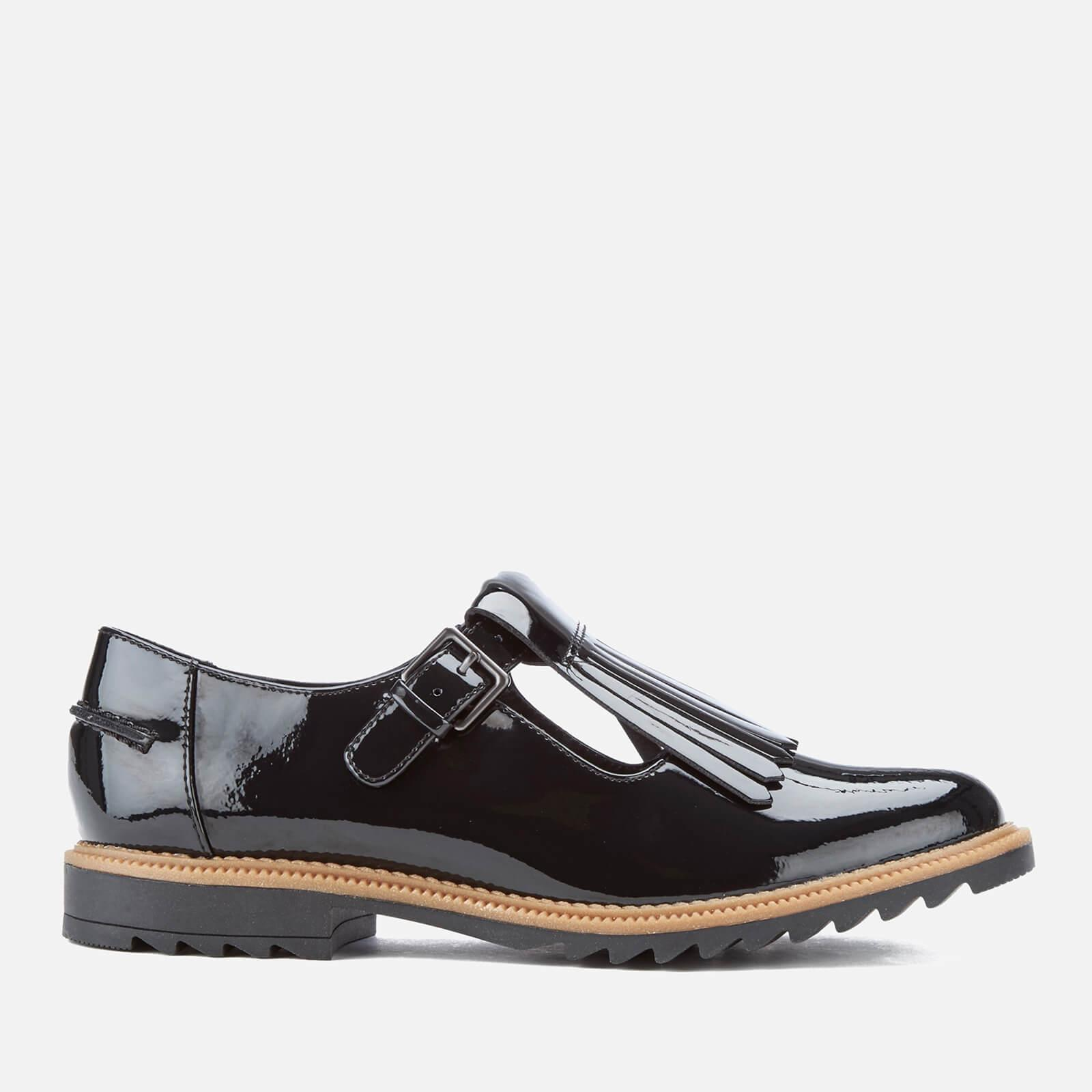 9f9964afec5d Clarks Griffin Mia Patent Frill T Bar Shoes in Black - Lyst