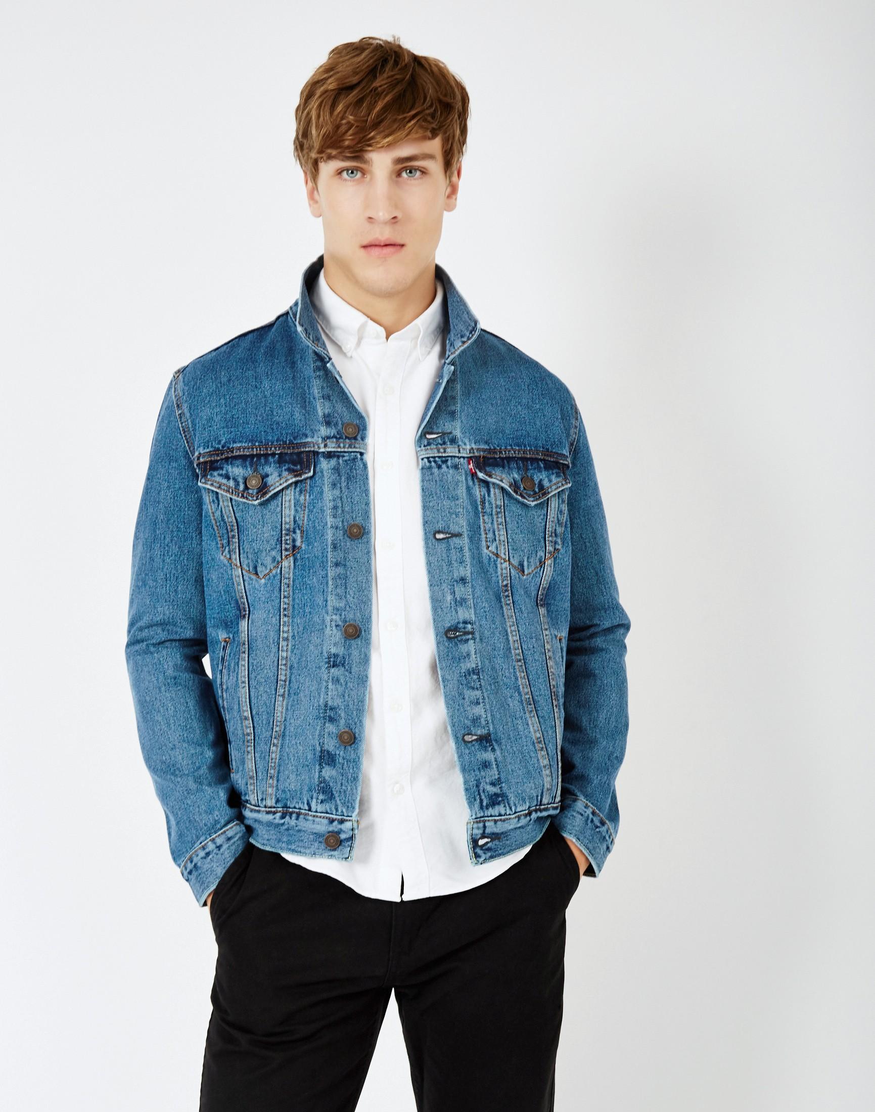 Light Wash Denim Jacket Mens