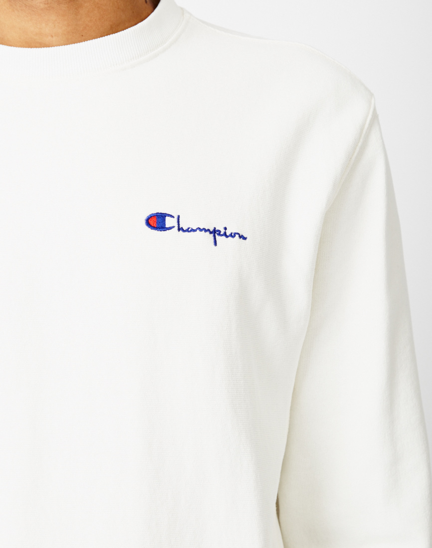 Champion Garment Dyed Classic Crew Sweatshirt White in White for ...