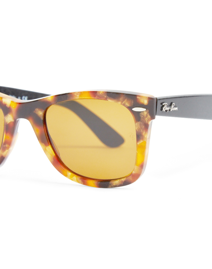 84bdfb7ea5c Ray Ban Clear Lens Square Wayfarer Glasses Striped Havana ...