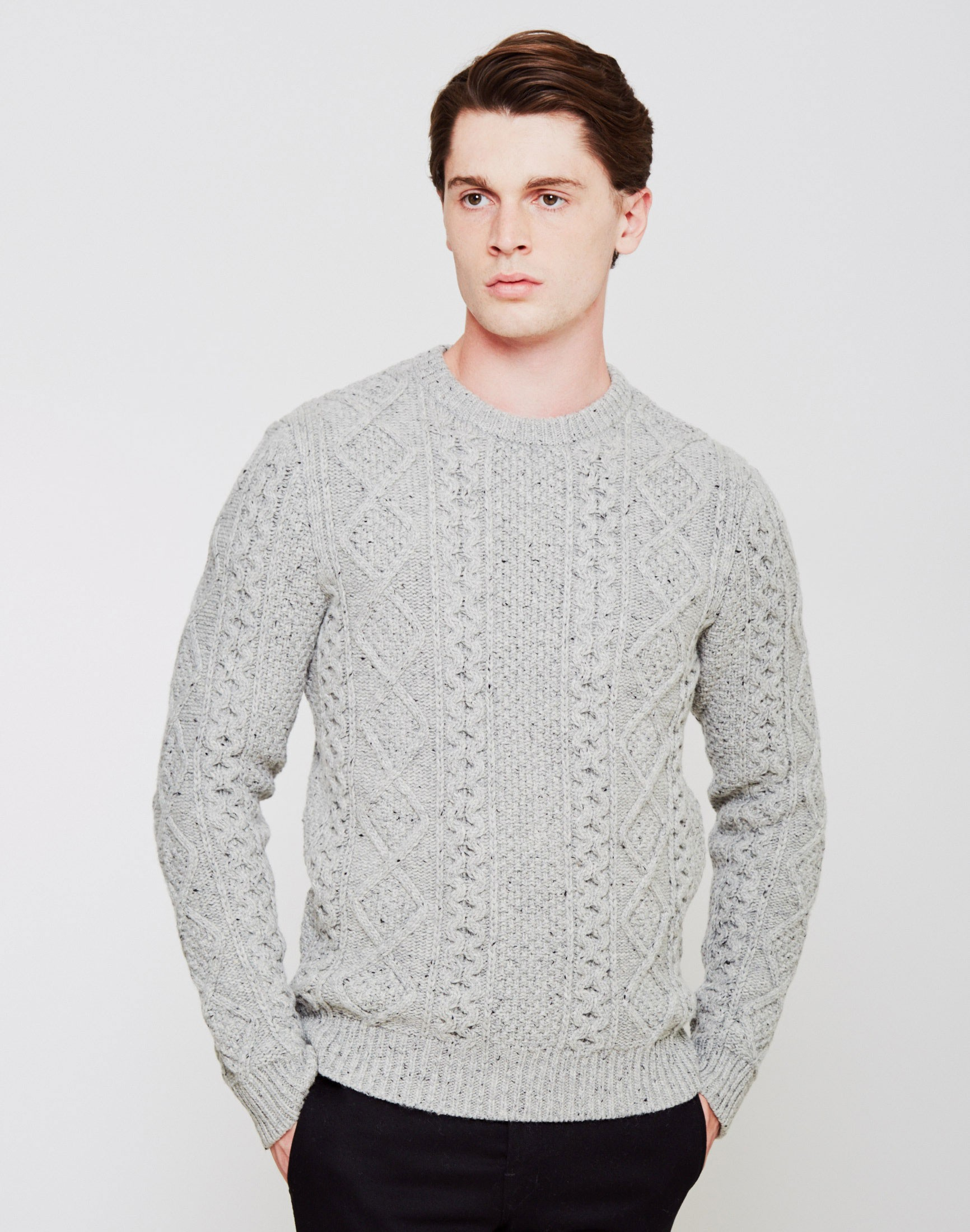 Pictures Sale Online Mens Fisherman Cable Crew Jumper Levi's Discount Geniue Stockist Clearance Cheapest yUhXjyGwFJ