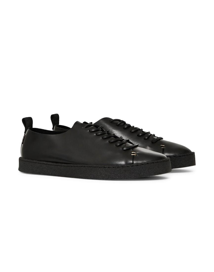 Yogi Rufus Leather Trainer Black In Black For Men Lyst
