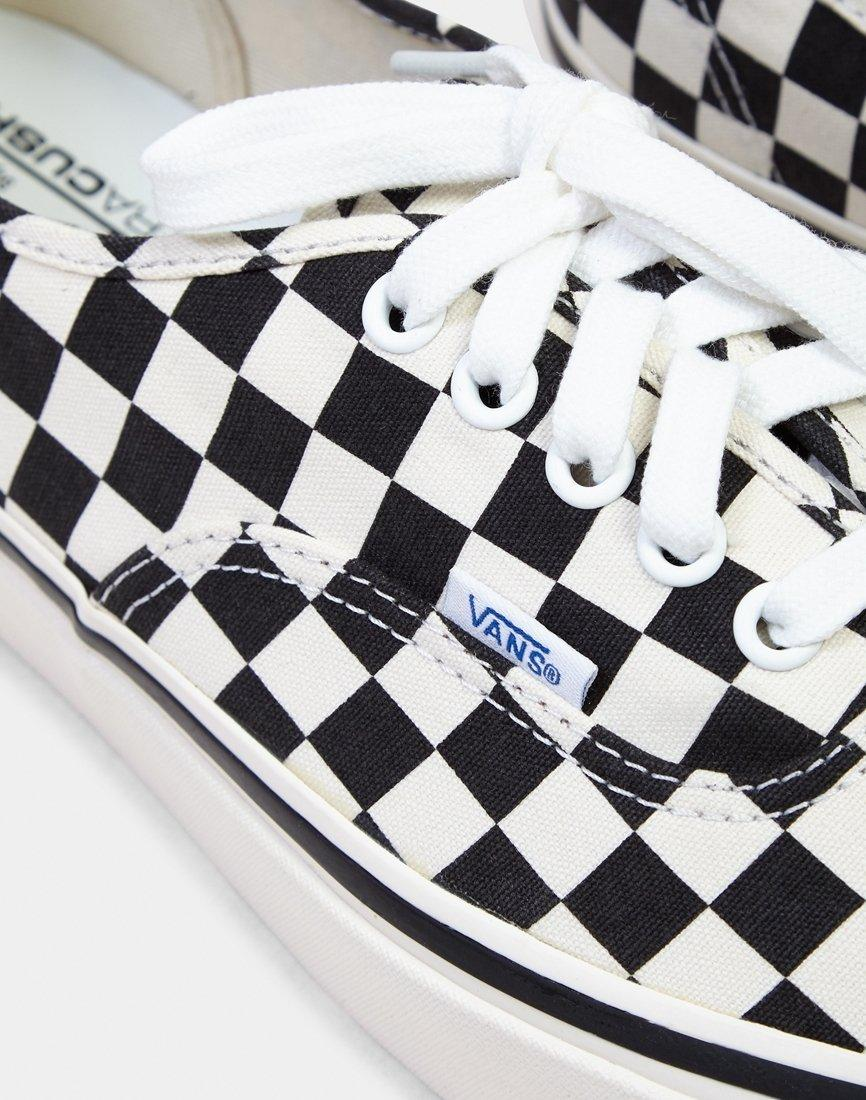 55f6e9b17f8 Lyst - Vans Blur Check Authentic in White for Men - Save 43%