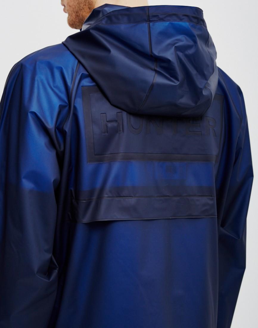 Hunter Original Vinyl Windcheater Jacket Blue In Blue For