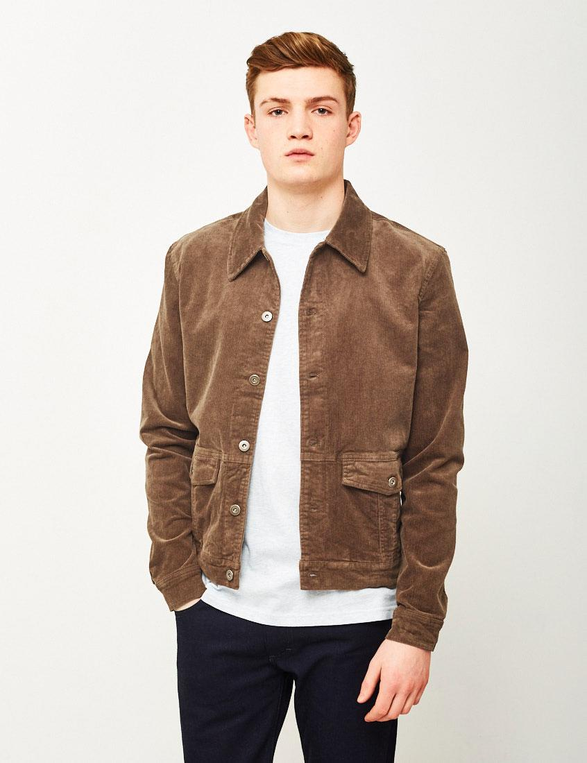 Lyst The Idle Man Corduroy Worker Jacket Brown In Brown