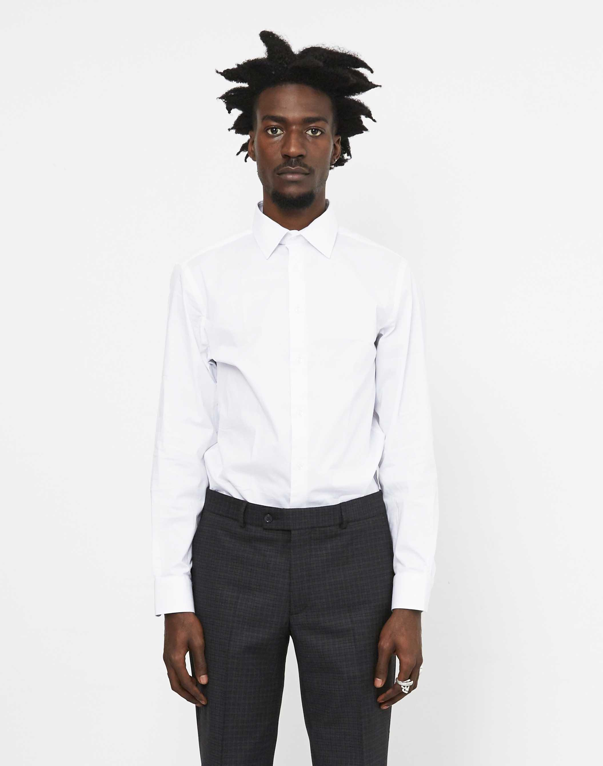 619f5ca6788 The Idle Man Slim Stretch Shirt White in White for Men - Lyst