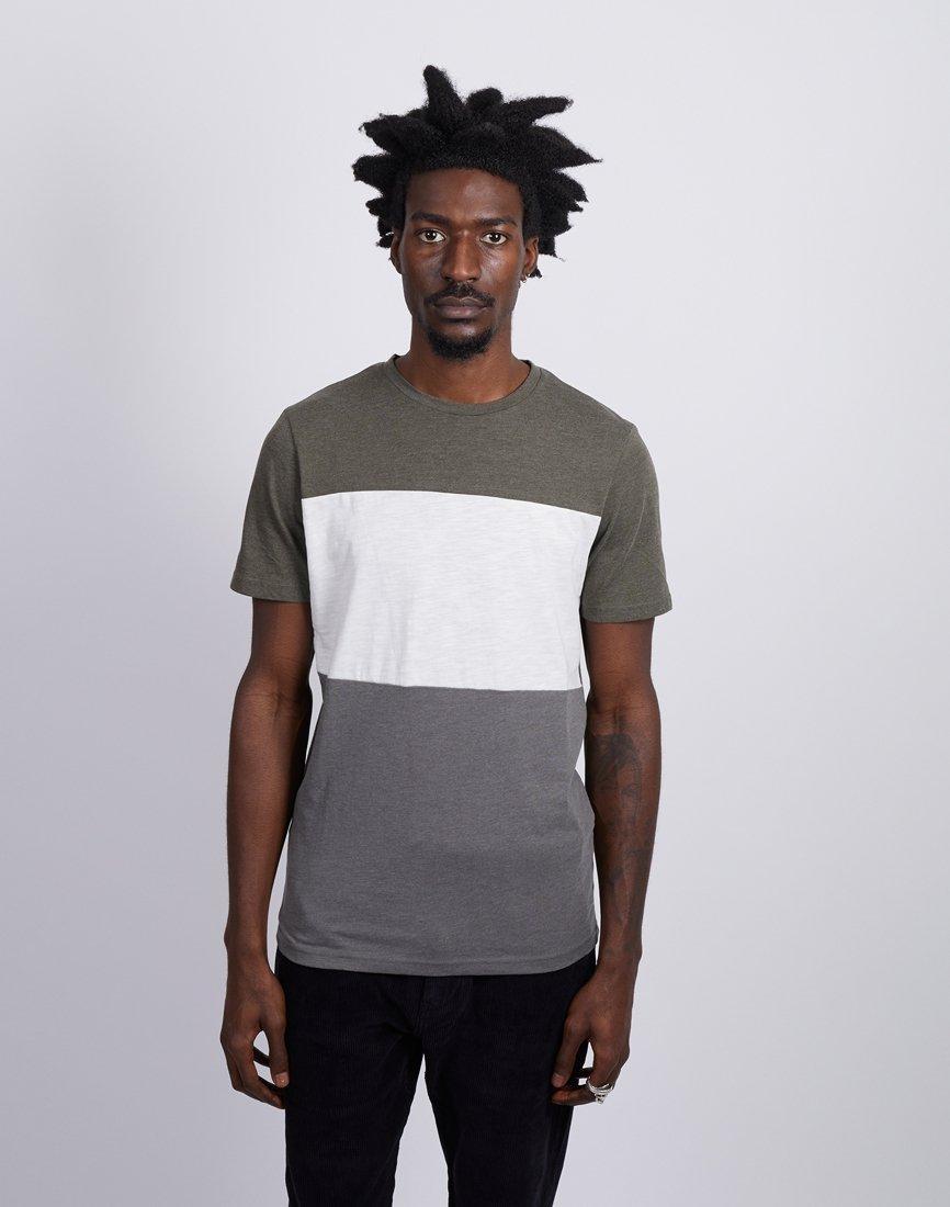 485358345f29 The Idle Man Colourblock Short Sleeve Tshirt Green in Green for Men ...