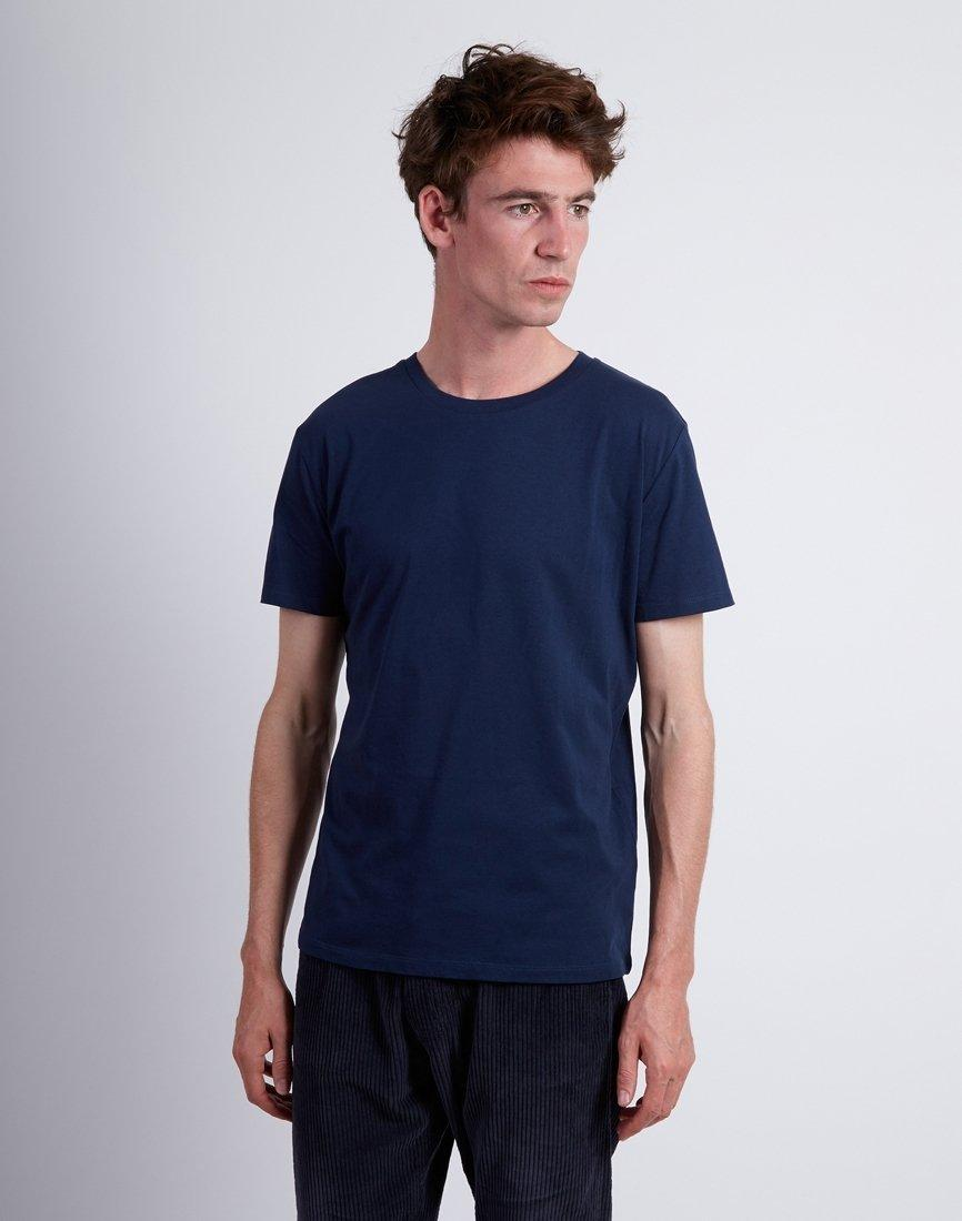 3bbe91663847 The Idle Man Organic Crew Neck Tshirt Navy in Blue for Men - Lyst