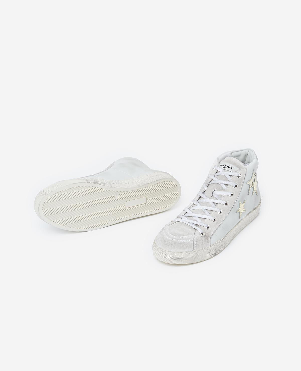 Zapatillas blancas piel con cordones The Kooples de Cuero de color Blanco