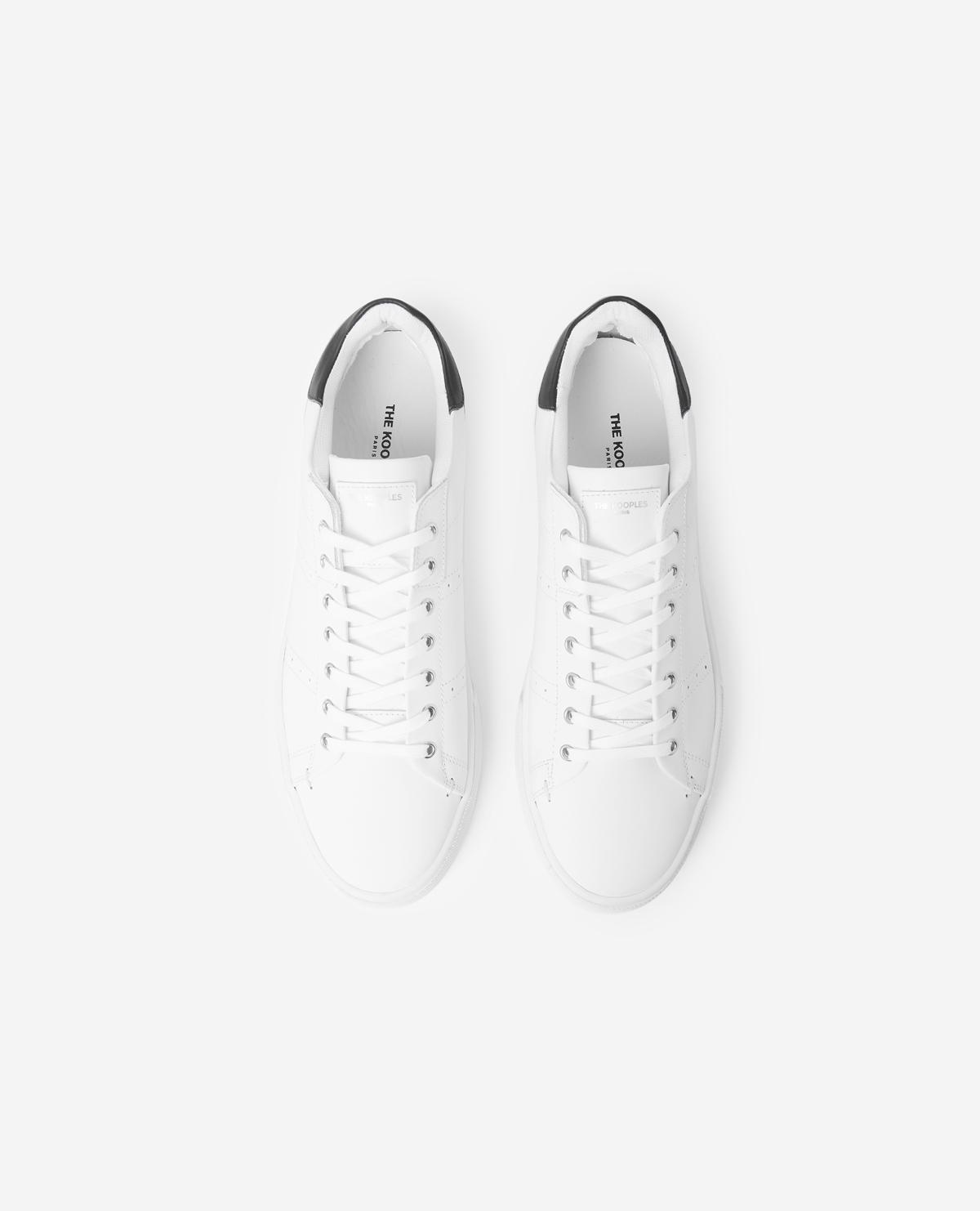 Zapatillas blancas de piel con suela gruesa The Kooples de Denim de color Blanco para hombre