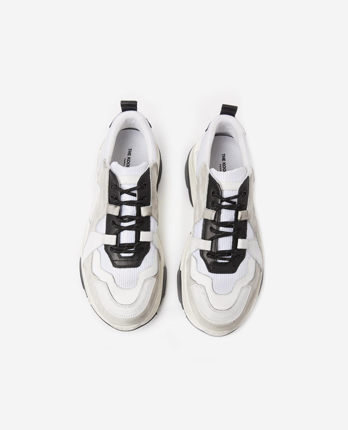 And Trainers Men Kooples Black White Chunky Leather For The ID2WEYH9