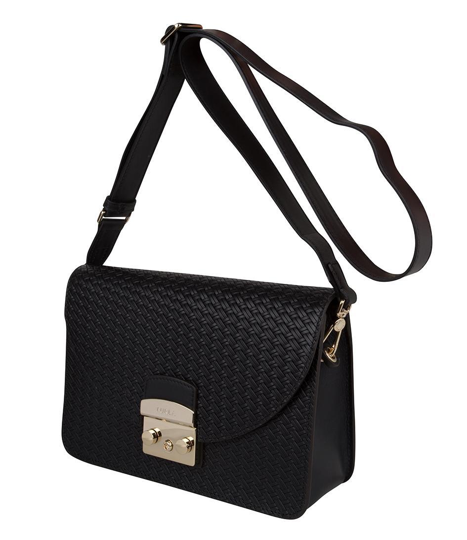 8ed6f29713d Lyst - Furla Metropolis Gilda Small Shoulder Bag in Black