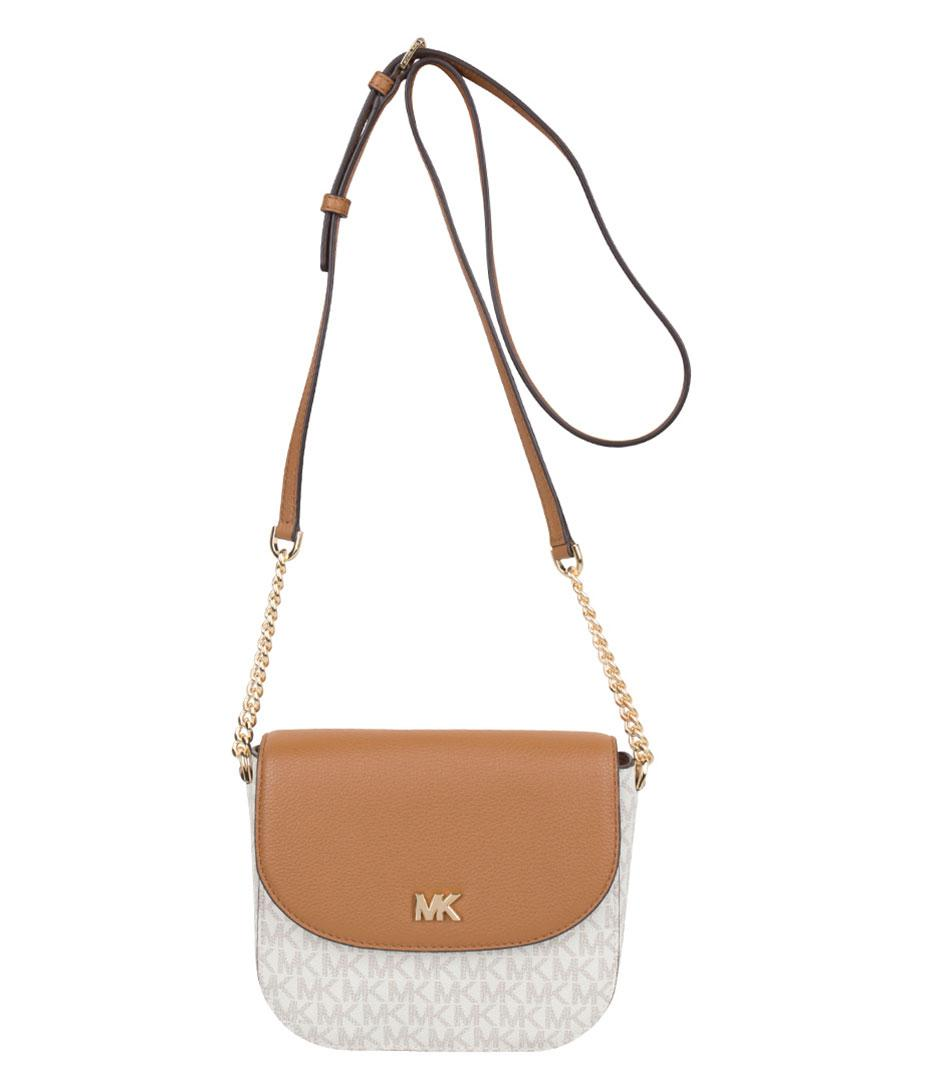 bd7ecb6943c6 Lyst - Michael Kors Half Dome Crossbody in White
