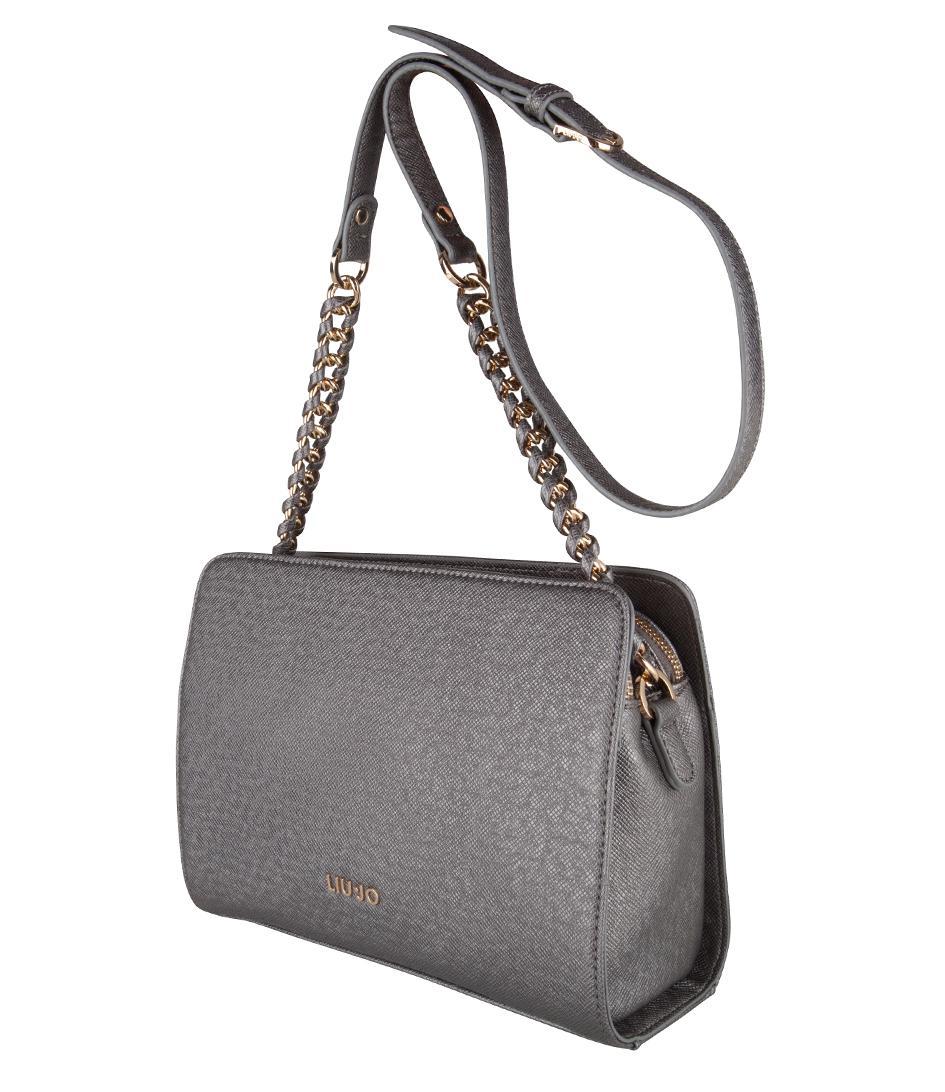 d3bab469f6b0 Liu Jo Tracolla Small Anna Chain Bag in Gray - Lyst