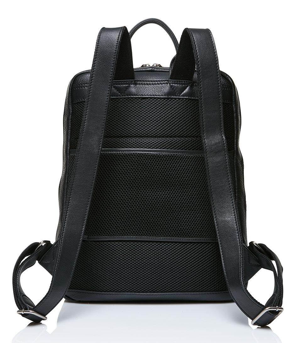 Castelijn & Beerens Leather Backpack 15.6 Inch + Tablet in Black for Men