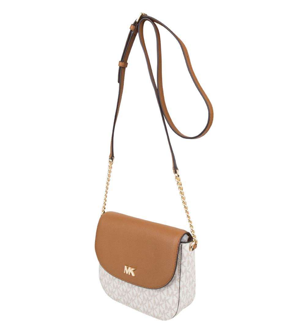 Michael Kors Leather Half Dome Crossbody in White