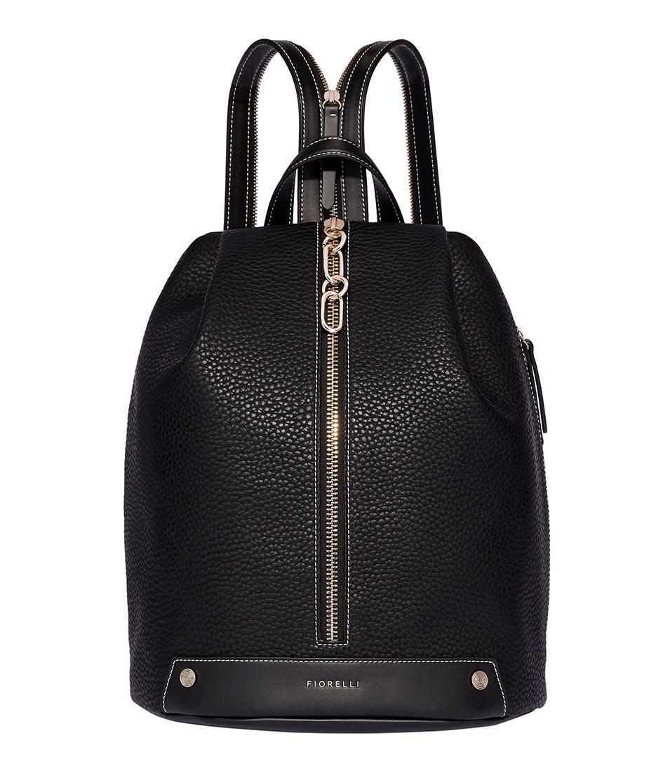16fb462f4a19 Women's Black Bolt Zipped Backpack