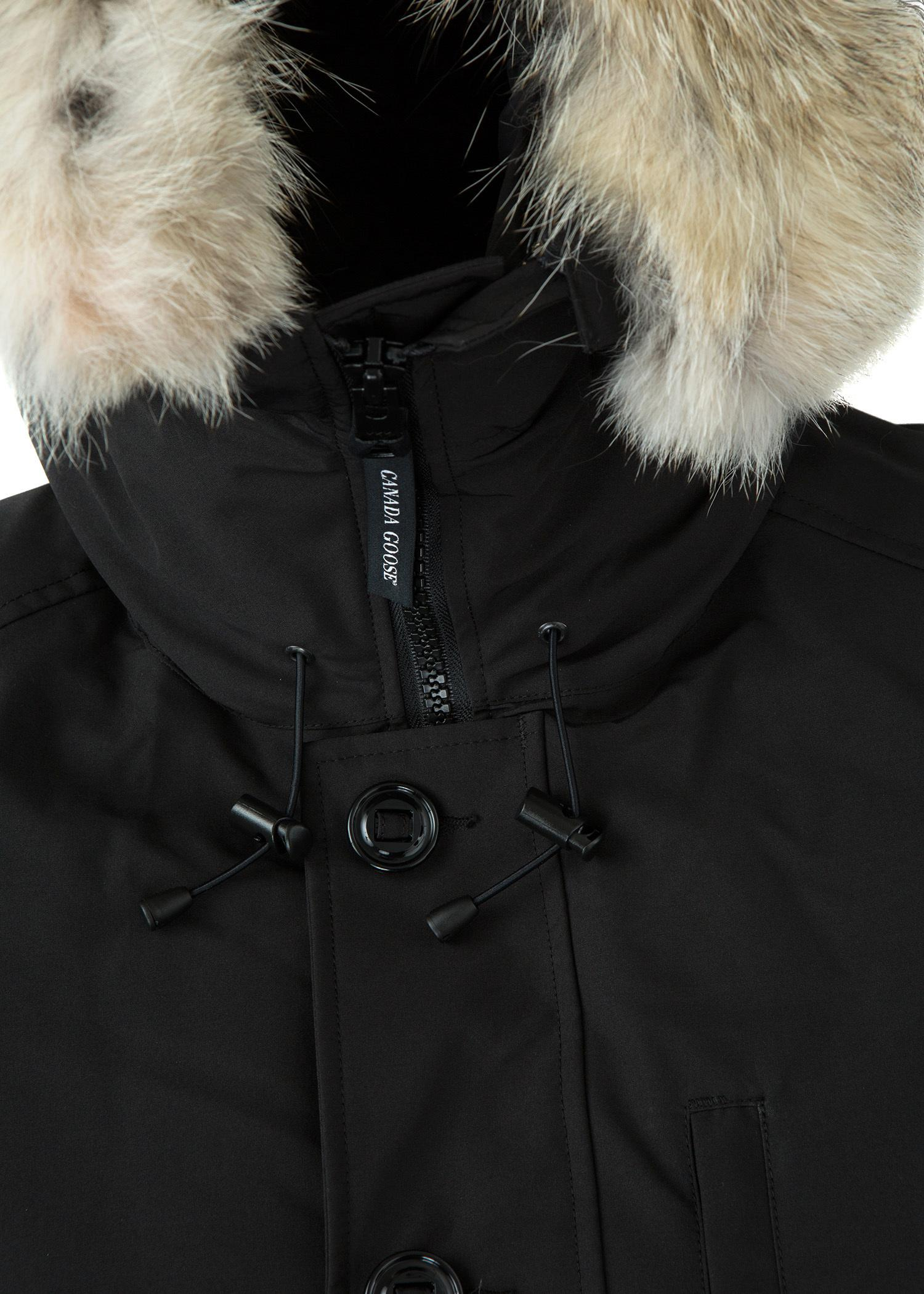 canada goose chateau coyote fur-trim down parka fusion fit