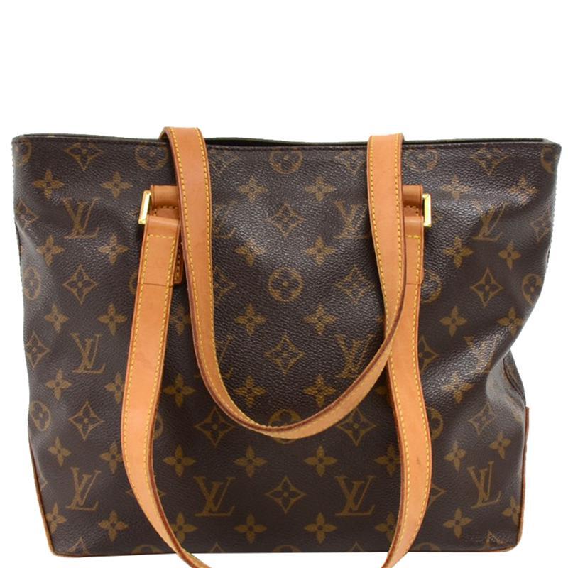 9678e4a45360 Lyst - Louis Vuitton Monogram Canvas Cabas Piano Bag in Brown