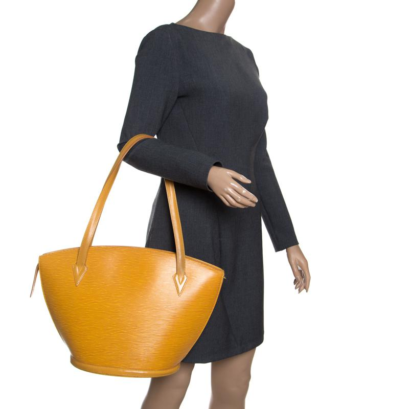 b756a5e2dd80 Louis Vuitton - Green Tassil Yellow Epi Leather Saint Jacques Gm Bag - Lyst