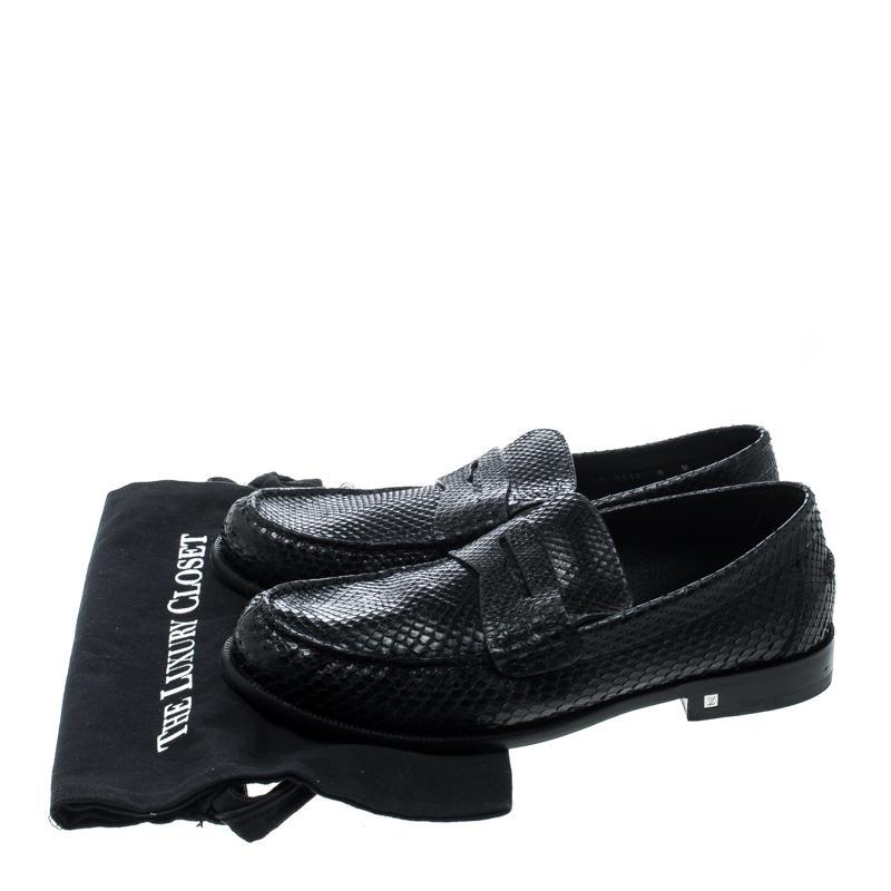c4c353dbf06 Louis Vuitton Black Python Loafers Size 42 for men