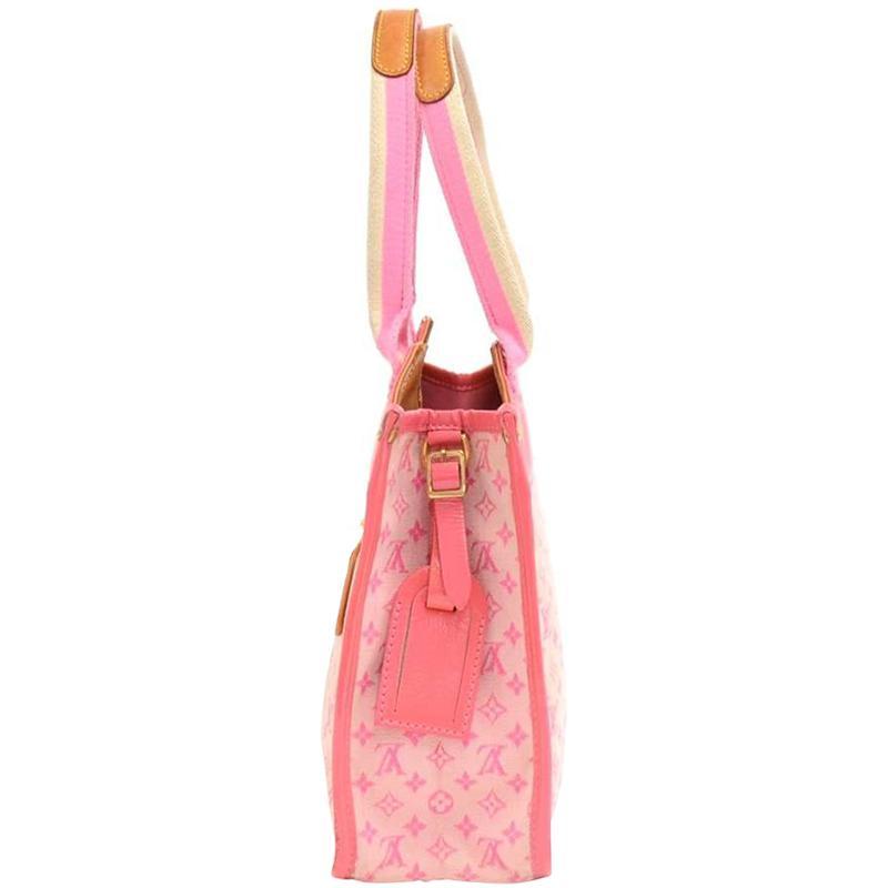 Lyst - Louis Vuitton Rose Monogram Mini Lin Sac Kathleen Bag in Pink 52276739660
