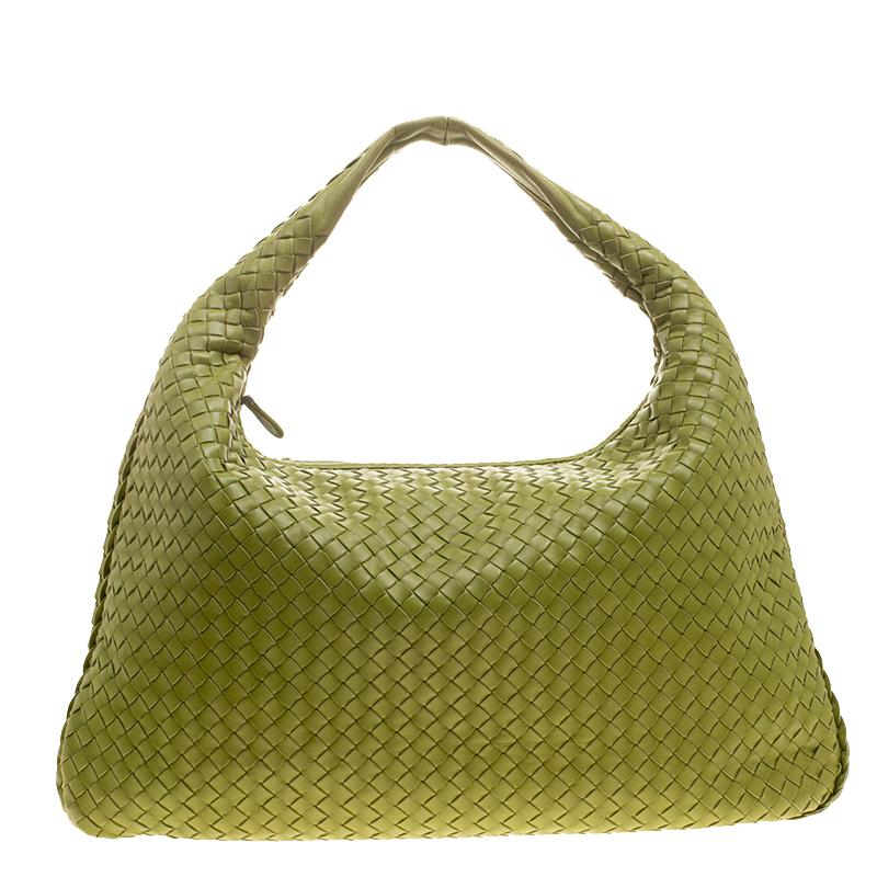 3cc7513ef154 ... Lyst - Bottega Veneta Lime Intrecciato Leather Veneta Hobo i best  authentic f4d6e 09b8b ...
