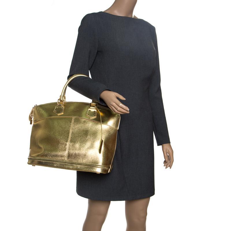 0c02d07b1d18 Louis Vuitton - Metallic Lockit Gold Leather Handbag - Lyst. View fullscreen
