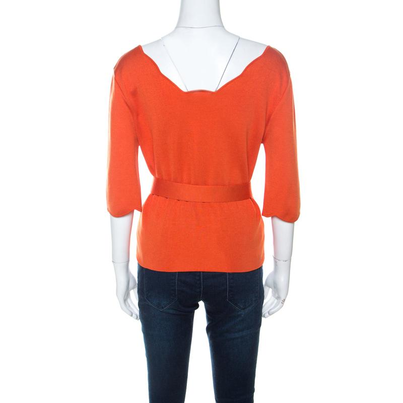 Love this Orange Scallop-Tier Pearl-Yoke Top on #zulily! #