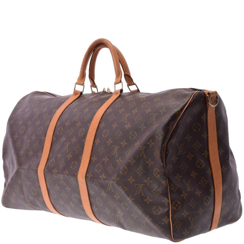 133416b243e6 Louis Vuitton - Brown Monogram Canvas Keepall Bandouliere 60 Bag - Lyst.  View fullscreen