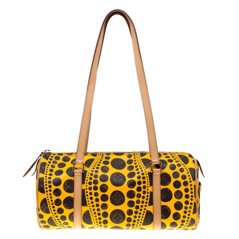 95f79771bd9a Louis Vuitton. Women s Yellow Monogram Canvas Limited Edition Yayoi Kusama  Pumpkin Dots Papillon 30 Bag