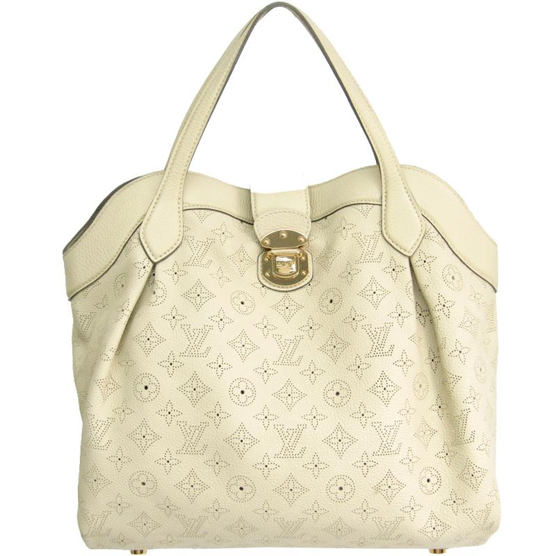Louis Vuitton. Women s White Ivory Monogram Mahina Leather Cirrus Mm Bag 259dbbe52a06d