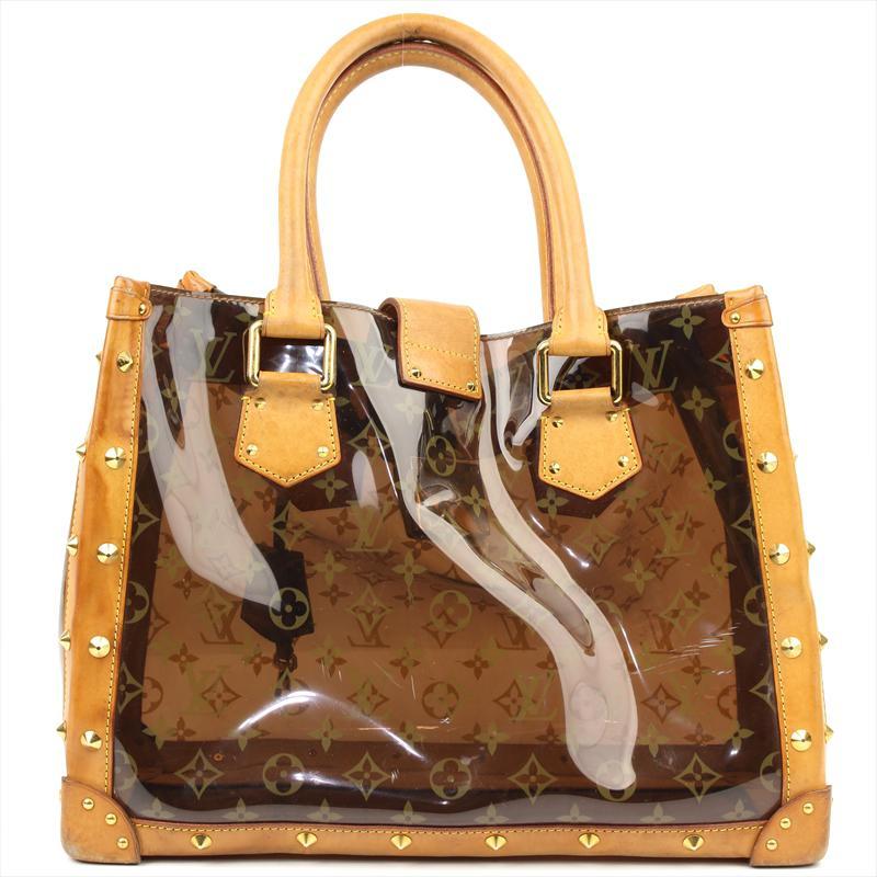 b59726fd3b5 Louis Vuitton Brown Monogram Vinyl Limited Edition Ambre Neo Cabas Cruise  Bag