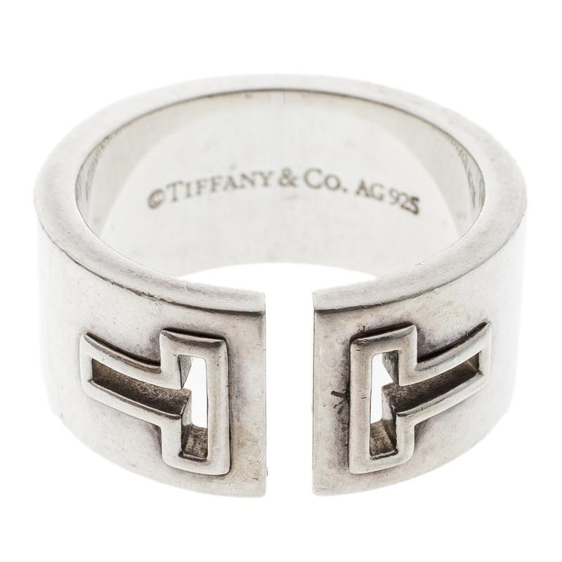 cb6ecc064 Tiffany & Co. T Cutout Open Band Ring in Metallic - Lyst
