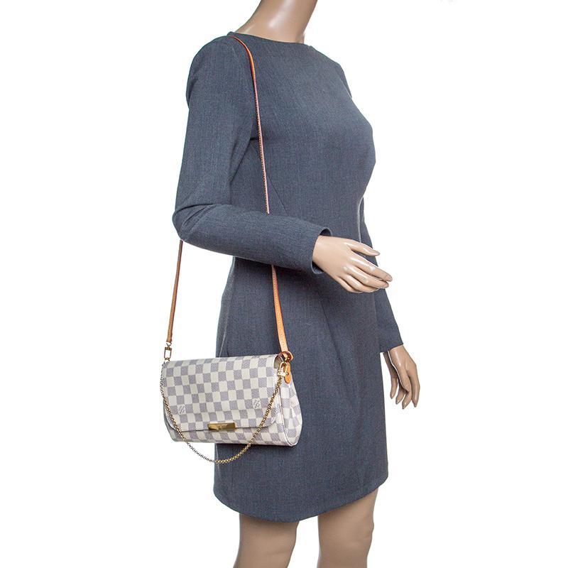 2422699496 Louis Vuitton Damier Azur Monogram Canvas Favorite Mm Crossbody Bag ...