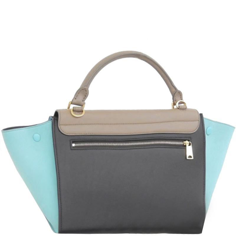644333078e Céline - Multicolor Tricolor Leather Small Trapeze Bag - Lyst. View  fullscreen
