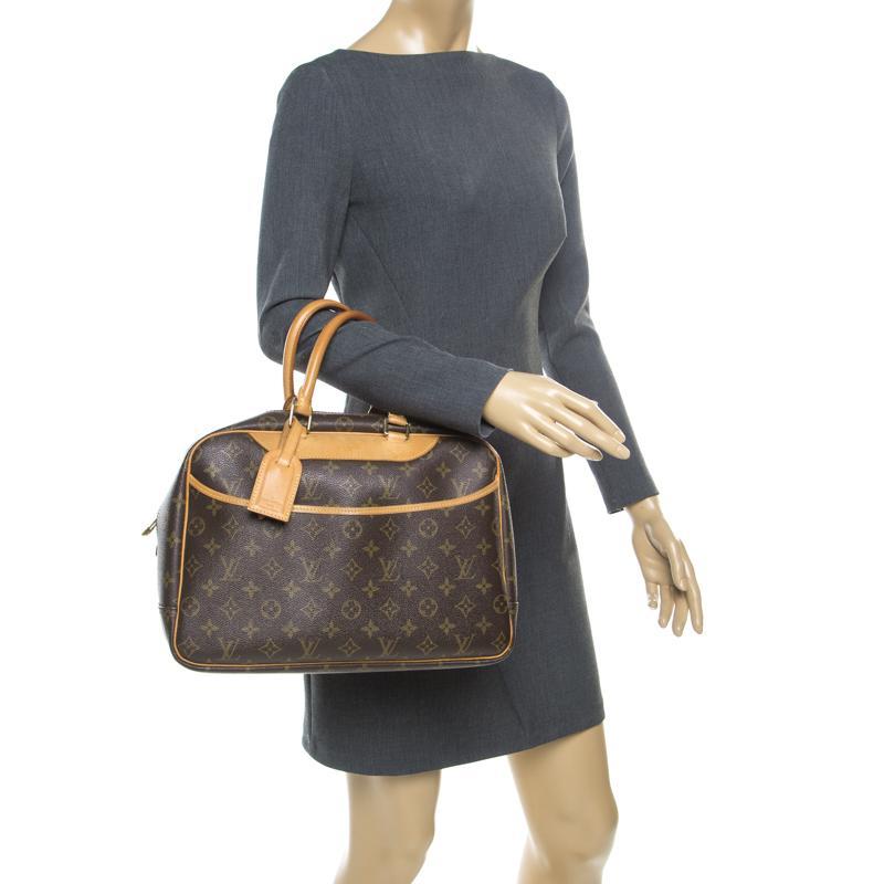 be1abd8a0f51 Louis Vuitton - Brown Monogram Canvas Deauville Bag - Lyst. View fullscreen