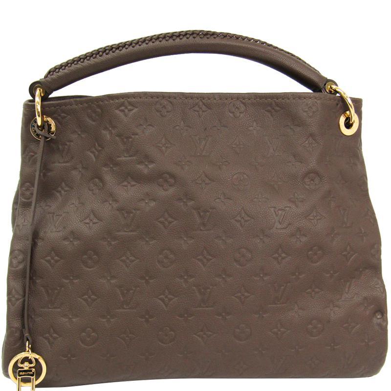 Louis Vuitton Terre Monogram Empreinte Leather Artsy Mm Bag in Brown ... 181b1d7369