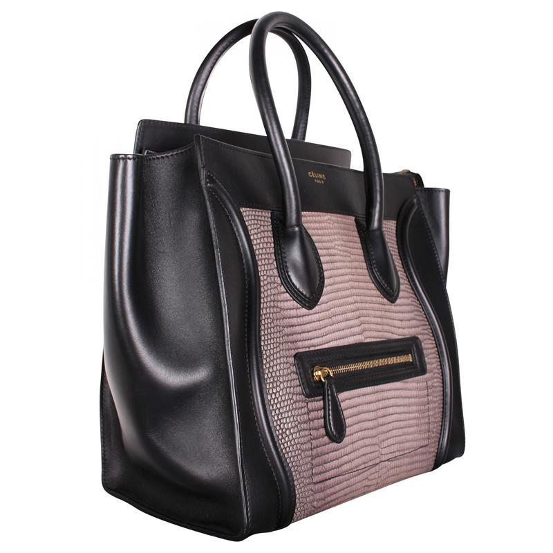 Céline - Multicolor Bi Color Lizard leather Mini Luggage Tote - Lyst. View  fullscreen 854b58f4d0