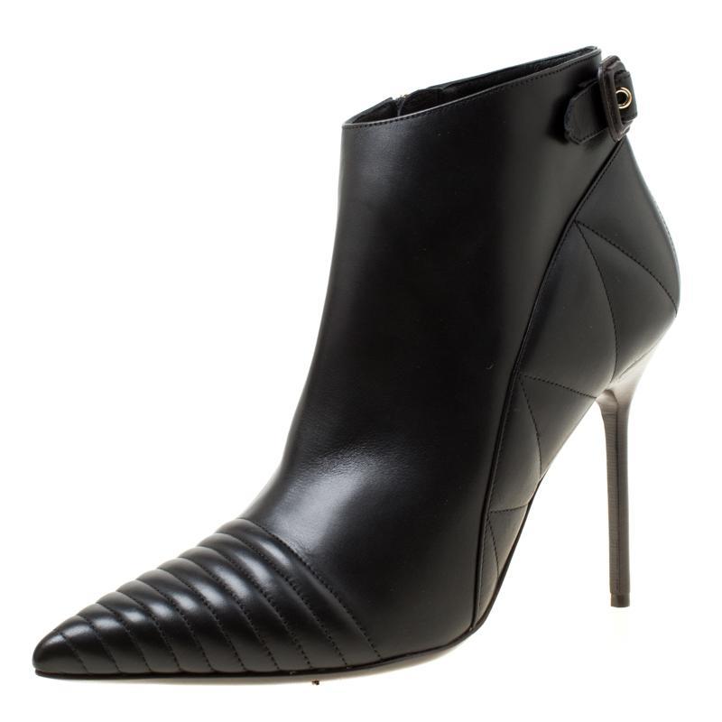 2df2e4851c Burberry Quilted Leather Alexandra Pointed Toe Ankle Boots in Black ...
