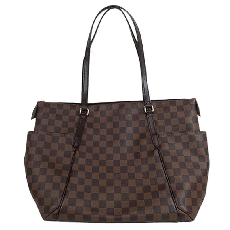 3fe40b0ae6a6 Lyst - Louis Vuitton Damier Ebene Canvas Totally Mm Nm Bag in Brown