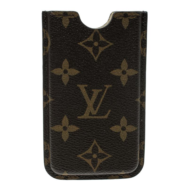 8bfa70981254 Lyst - Louis Vuitton Monogram Canvas Iphone 4 Hardcase Cover in Brown