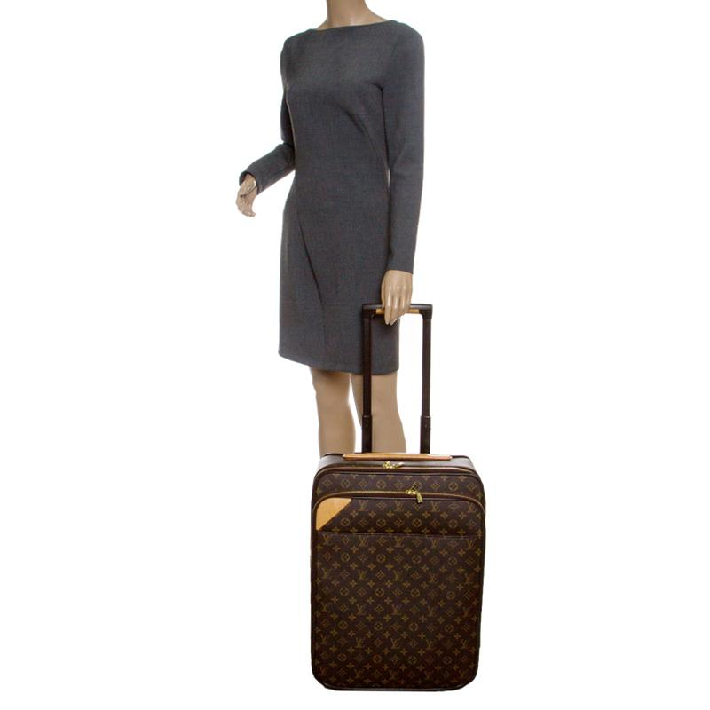 df9c389b8f Louis Vuitton Brown Monogram Canvas Business Pegase Legere 55 Luggage