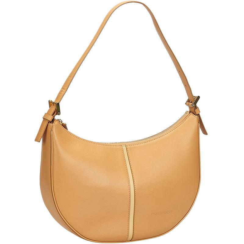 Burberry - Brown Leather Hobo - Lyst. View fullscreen 268e9818806b2