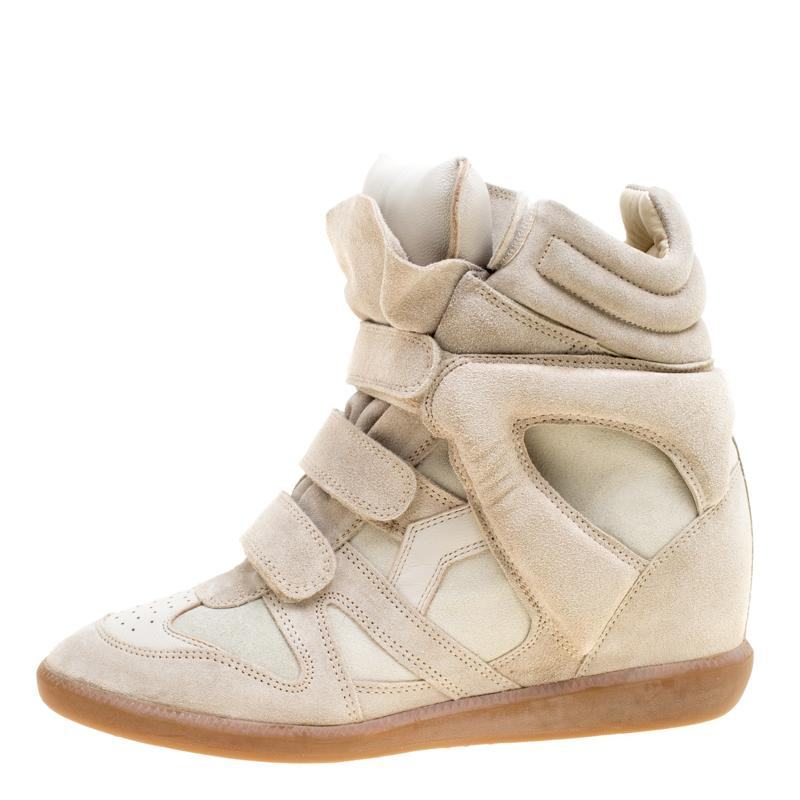 63133677b9 Isabel Marant - Gray Grey Suede Bekett Wedge Sneakers Size 41 - Lyst. View  fullscreen