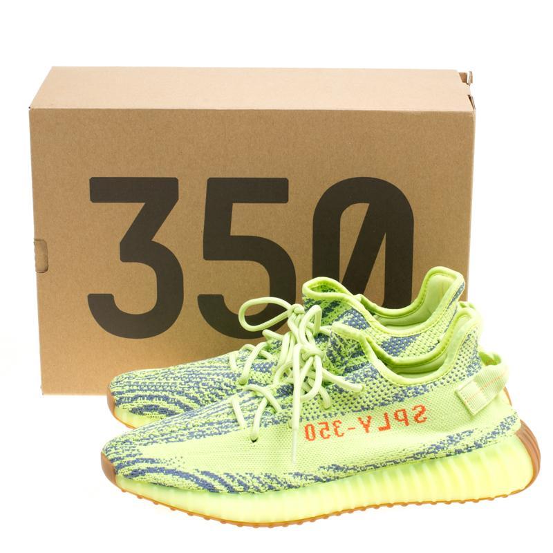 d9f41738c89 Lyst - Yeezy X Adidas Semi Frozen Yellow Cotton Knit Boost 350 V2 ...