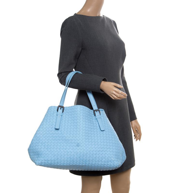 Bottega Veneta - Blue Sky Intrecciato Nappa Leather Large Cesta Tote -  Lyst. View fullscreen bb2c10cfd0f12