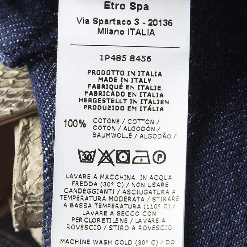 Etro Indigo Dark Wash Denim Regular Fit Jeans M in Blue for Men
