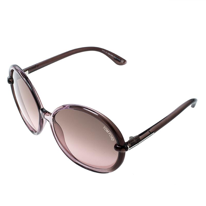 44d97c8653e Lyst - Tom Ford Lilac Tf 167 Caithlyn Oversized Round Sunglasses in ...